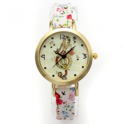 Chic lady watch, thin leather band ..