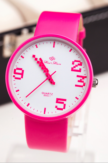 Pink and White Girls Quartz Watch