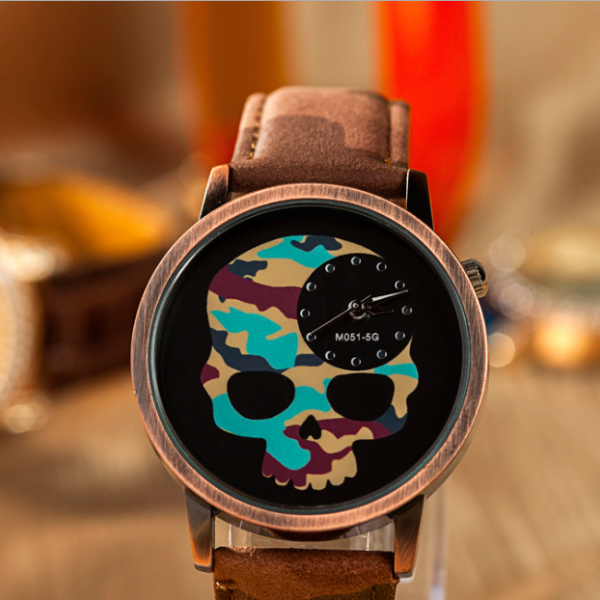 Skull Leather Watch, Leath..